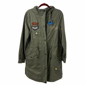 edc Military Inspired Patch Detail Anorak Utility